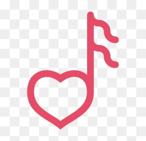 Heart, Love, Music, Note, Valentine, Valentine's Day Icon - Valentine PNG