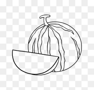 How To Draw A Watermelon - Watermelon Black And White Clipart