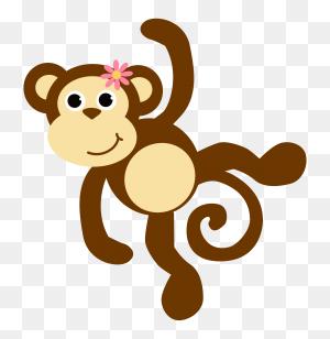 Image Result For Monkey Applique Cricut Diy Monkey - Monkey On Tree Clipart