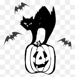 Isolated Black Cats Clip Art Cat Halloween Winging - Black Cat Clipart