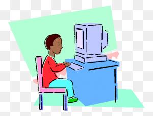 Kids On Computers Clipart Free Download Clip Art - Computer Clipart Transparent