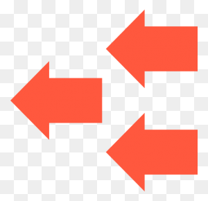 Left Arrows, Curve Arrows, Curved Arrow, Arrows, Left Arrow, Back - Red Curved Arrow PNG