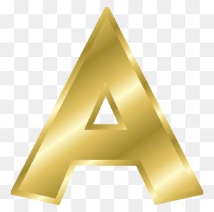 Letter, A, Capital Letter, Alphabet, Abc, Gold - Gold Letters PNG