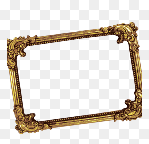 Luxury Photo Frame, Golden Photo Frame, Wedding Photo Frame Png - Gold Frame PNG