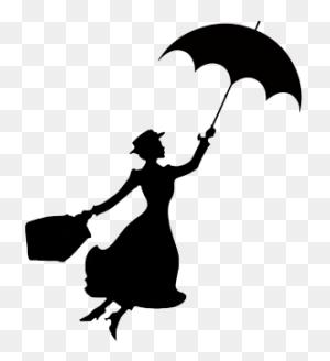Mary Poppins Stencil Disney Silhouettes, Silhouettes And Mary - Disney Silhouette Clip Art