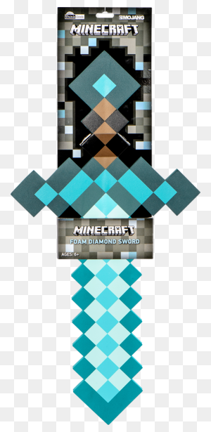 Minecraft Foam Diamond Sword Minecraft - Minecraft Diamond PNG