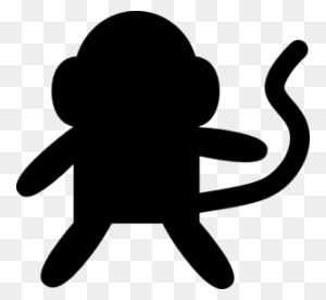 Monkey Black And White Black And White Monkey Clip Art Clipart - Monkey Clipart