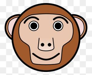 Monkey Face Monkey Graphics Free Download Clip Art - Monkey Outline Clipart