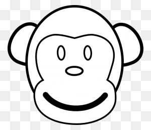 Monkey Face Template Monkey Face Clip Art - Monkey Head Clipart
