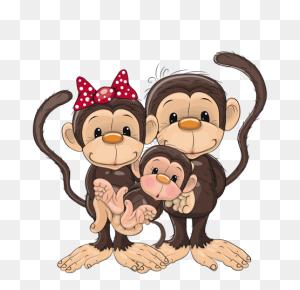 Monkey Family Monkeys Monkey, Cartoon Monkey - Bratwurst Clipart