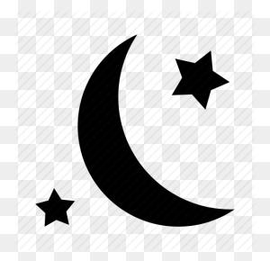 Moon, Night, Night Sky, Stars Icon - Night Sky PNG