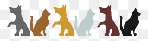 Multicolored Dog And Cat Silhouettes Clip Arts Download - Dog And Cat Silhouettes Clipart