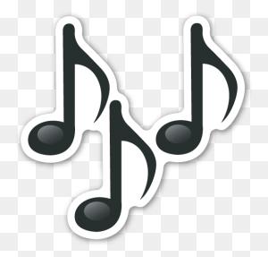 Multiple Musical Notes Emojis, Emoji Stickers And Emoji - Microphone Emoji PNG