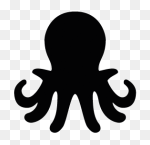 Octopus Silhouette Silhouettes Silhouette - Octopus Black And White Clipart