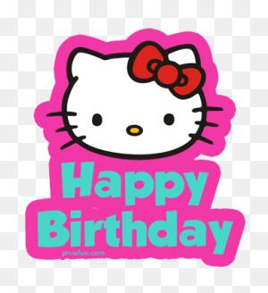 Over Happy Birthday Hello Kitty Meme Cliparts Happy Birthday - Happy Birthday Text PNG