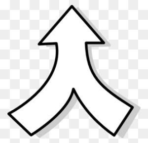 Over Merging Arrows Cliparts Merging Arrows - Rustic Arrow PNG