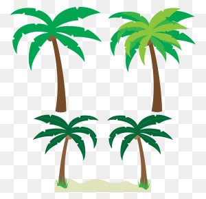Palm Tree Art Tropical Palm Trees Clip Art Clip Art Palm Tree - Palm Clipart