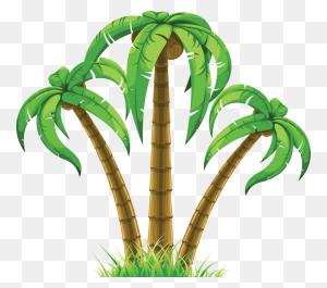 Palm Tree Art Tropical Palm Trees Clip Art Clip Art Palm Tree - Palm Tree Silhouette Clipart