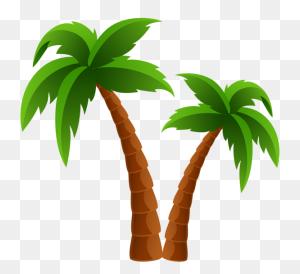 Palm Tree Clip Art And Cartoons On Palm Trees - Palm Tree Clip Art Free