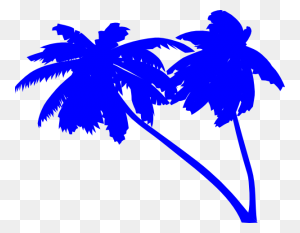 Palm Trees Clipart Palm Tree Silhouette Download - Palm Tree Beach Clip Art