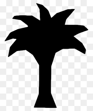 Palm Trees Computer Icons Woody Plant Date Palm - Palm Tree Clipart Black And White