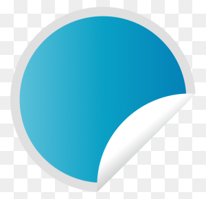 Peeling Blue Sticker Clip Art - Price Sticker PNG
