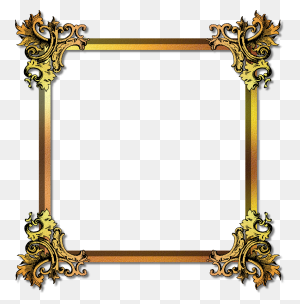 Photo Frames Frames Frame, Png Photo And Collage - Gold Picture Frame PNG