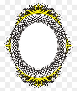 Picture Frames Borders And Frames Oval Download Decorative Arts - Oval Frame Clipart