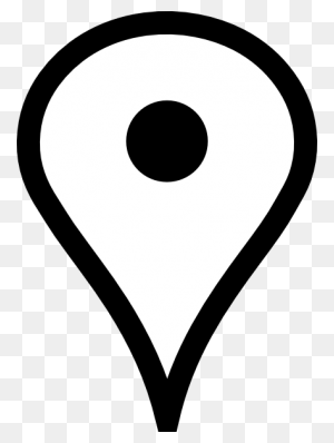 Pin Png Black And White Transparent Pin Black And White Images - Map Clipart Black And White