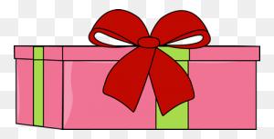 Pink Christmas Gift Clip Art - Christmas Gift Clipart