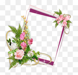 Pink Frame With Roses And Ribbon Frames Frame - Pink Frame Clipart