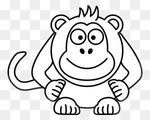 Png Monkey Black And White Transparent Monkey Black And White - Monkey Bars Clipart