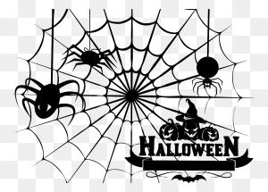 Pumpkins And Spider Web Clipart Clip Art Images - Pumpkins Black And White Clipart