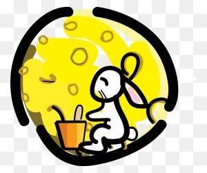 Rabbits - Mooncake Clipart
