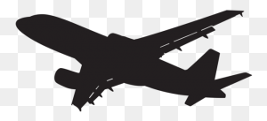 Racs Plane, Plane Silhouette - Plane Landing Clipart