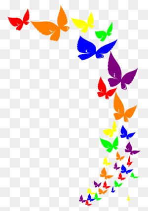 Rainbow Butterfly Rainbow Butterfly Clip Art Kids Stuff - Rainbow Clipart Image
