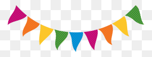 Rainbow Theme For Graduation Rainbow Bunting Clip Art - Rainbow Banner Clipart