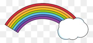 Rainbow With A Cloud Clip Art Weather Rainbows - Cloak Clipart