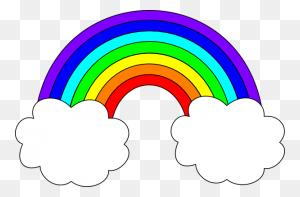 Rainbow With Clouds Clip Art Rainbow With Clouds Clip Art - Rainbow Bridge Clipart