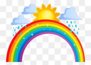 Rainbows Rainbow, Art - Moon And Stars Clipart
