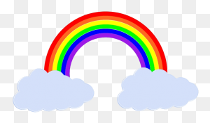 Rainbows Rainbow, Baby - Clouds Background Clipart