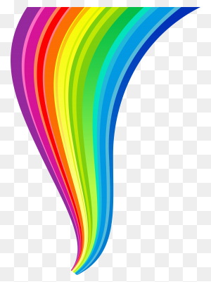 Random Rainbow Png, Rainbow - Rainbow Border PNG