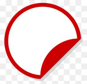 Red White Sticker Shadow Ii Clip Art - Price Sticker PNG