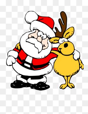 Reindeer Santa Claus Rudolph Christmas - Santa And Mrs Claus Clipart