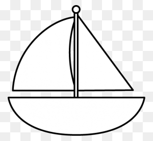 Sailboat Black And White Black And White Sailboat Clip Art Black - Triangle Clipart Black And White