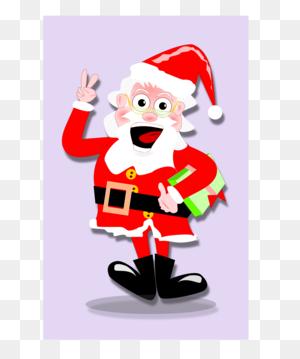 Santa Claus Cartoon Drawing Joke Line Art - Santa And Mrs Claus Clipart
