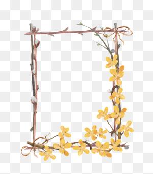 Flower Border Png Vector Classy World