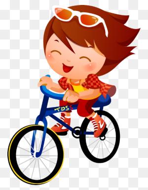Sport Kids Bicyclebasket Kids Sports, Sports - Ride A Bike Clipart