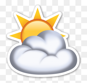 Sun Behind Cloud Emojis Suns Emoji, Emoji Stickers - Party Popper Emoji PNG