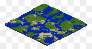 Terrain Generation, But With Larger Biomes And Oceans - Minecraft Grass Block PNG